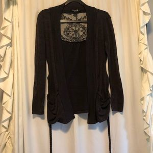 """Forever 21 """"Lace Detailed"""" Cardigan"""